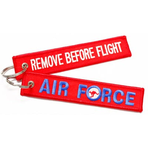 Key Tag Royal Australian Air Force Ensign RAAF Remove Before Flight