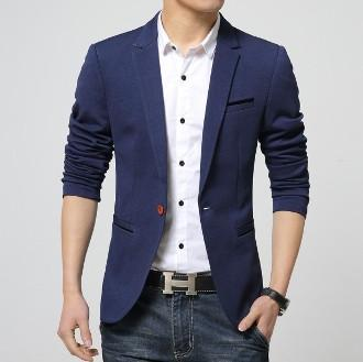 men's one button blazer