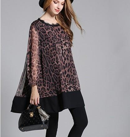women's leopard print top