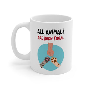 All Animals Are Born Equal Mug