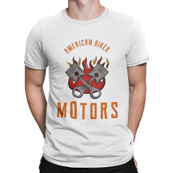 Mens Casual Short Sleeve Motors T Shirt