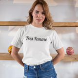 Womens Tre Femme in Black Logo T-Shirt