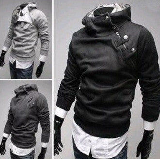 Mens Hooded w Inner Fur Pullover - AmtifyDirect