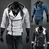 Mens Front Zip Two Tone Hoodie - AmtifyDirect