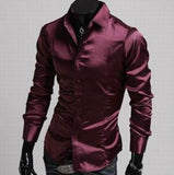 Mens Button Down Shiny Shirt