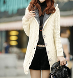 Womens Off White Cardigan with Inner Fur