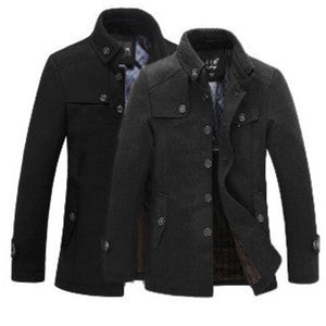 Mens Removable Knit Collar Fall Jacket - AmtifyDirect