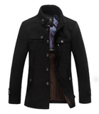 Mens Removable Knit Collar Fall Jacket