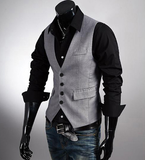 Mens Slim Fit Button Down Vest