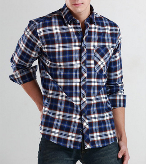 Mens Plaid Button Down Shirt - AmtifyDirect