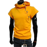 Mens Short Sleeve Sweatshirt with Hood