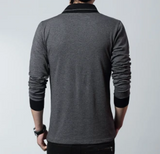 Mens Long Sleeve Shawl Collar Top - AmtifyDirect