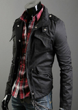 Mens Stand Up Collar Short Parka