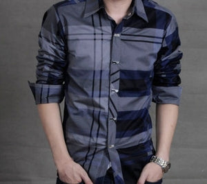 Mens Mixed Plaid Shirt (+ colors) - AmtifyDirect