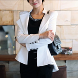 SALE womens white cotton/polyester blazer - AmtifyDirect