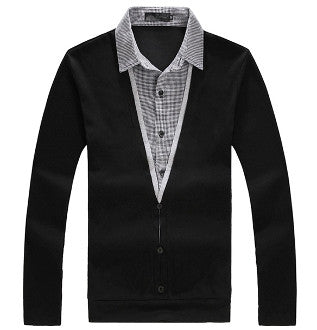 Mens Casual Layered Top