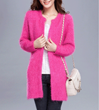 Womens Fuzzy Cardigan with Pockets