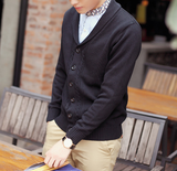 Mens Cable Knit Cardigan with Shawl Collar - AmtifyDirect