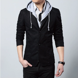 Casual Blazer with Removable Hood - AmtifyDirect