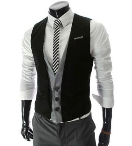 Mens Layered Vest with Shoulder Details