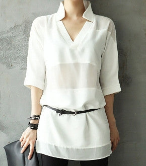Womens Layered Panel Top