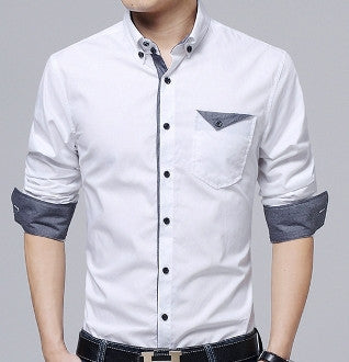 Mens Button Down Shirt with Flip Pocket - AmtifyDirect