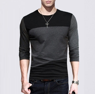 Mens Long Sleeve Shirt Color Block - AmtifyDirect