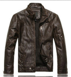 Mens Bomber Faux Leather Jacket