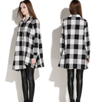 Womens Plaid Swing Style Shirt Dress