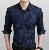 Mens Long Sleeve Shirt with Print Pattern