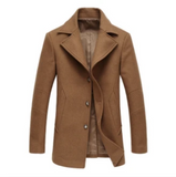 SALE camel mens wool blend coat - AmtifyDirect