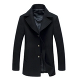 SALE mens navy wool blend coat - AmtifyDirect
