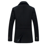 SALE navy mens wool blend coat - AmtifyDirect