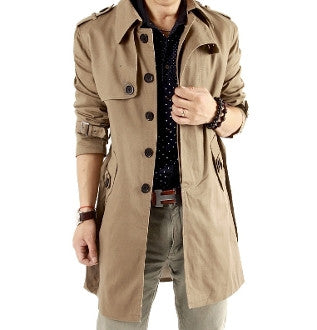 Men Double Breasted Trench Coat