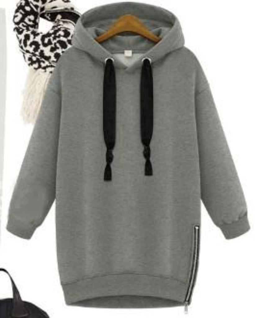 Women Hoodie With Side Zipper
