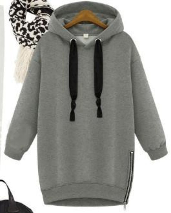 Womens Hoodie With Side Zipper