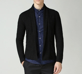 Versatile Open Cardigan in Navy