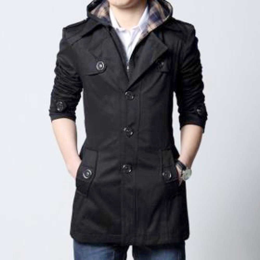 Classic Trench Jacket with Removable Hood