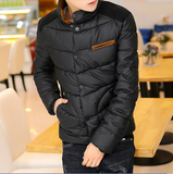 Mens Puffer Jacket with Front Pocket - AmtifyDirect