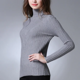 Womens Ribbed Turtle Neck Sweater