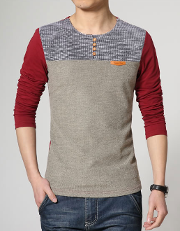 Mens Round Neck Casual Top - AmtifyDirect