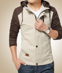 Mens Hooded Zip Up Jacket - AmtifyDirect