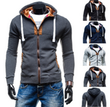 Mens Slim Fit Hoodie Jacket