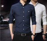 Mens Classic Button Down Dress Shirt - AmtifyDirect