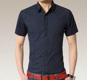 Mens Contrasting Pattern Short Sleeve