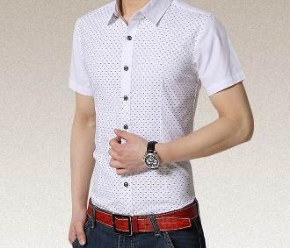 Men's Short Sleeve Pattern Shirt