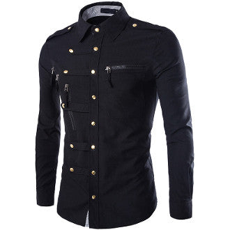 Mens Shirt with Zipper Design Details