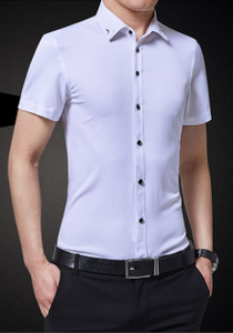 Mens Short Sleeve Shirt with Collar Design