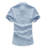 Mens Short Sleeve Shirt with Line Designs