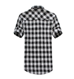 Mens Short Sleeve Plaid Shirt